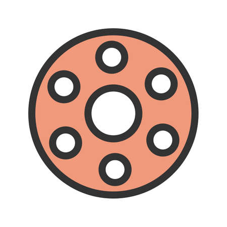 Machine, thread, bobbin icon vector image. Can also be used for Sewing. Suitable for mobile apps, web apps and print media.