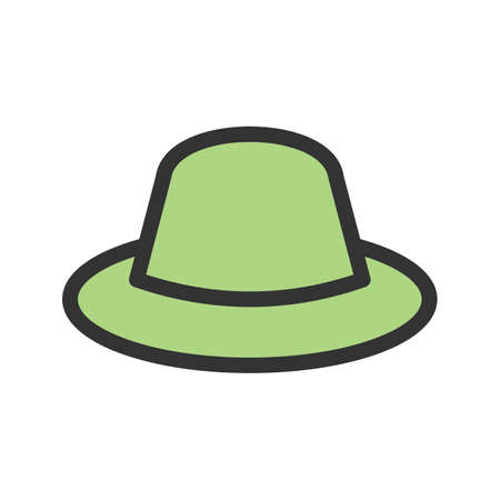 Hat, cowboy, head icon vector image. Can also be used for men's accessories. Suitable for mobile apps, web apps and print media. 일러스트