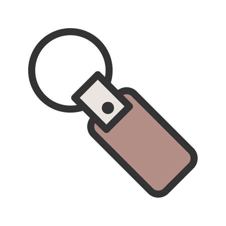 Key, chain, key ring icon vector image. Can also be used for mens Accessories. Suitable for mobile apps, web apps and print media.