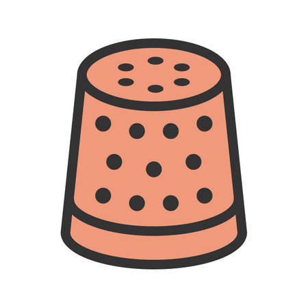 Thimble, thread,sewing icon vector image. Can also be used for sewing. Suitable for mobile apps, web apps and print media.