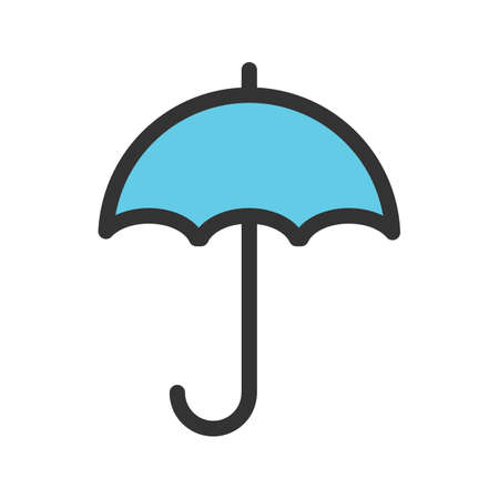 Rain, umbrella, rainy icon vector image. Can also be used for Mens Accessories. Suitable for use on web apps, mobile apps and print media. 일러스트