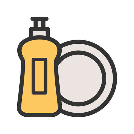 Dish washing icon vector illustration Illustration