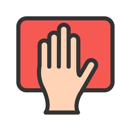 Scrubbing with Hand Иллюстрация
