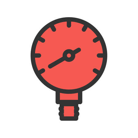 Oil, gas, manometer icon vector image. Can also be used for climatic equipment. Suitable for mobile apps, web apps and print media.