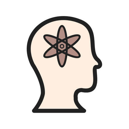 Mind, intelligence, artificial icon vector image. Can also be used for Data Analytics. Suitable for web apps, mobile apps and print media. Illustration