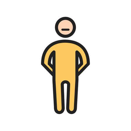 Stubborn man icon