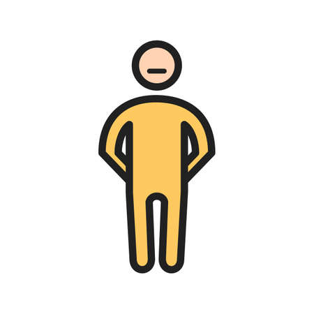 Stubborn man icon