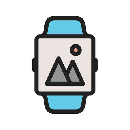Gallery, app, smart icon vector image. Can also be used for Smart Watch. Suitable for mobile apps, web apps and print media. 일러스트