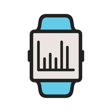 Statistics, graph, growth icon vector image. Can also be used for Smart Watch. Suitable for use on web apps, mobile apps and print media. Stock Illustratie