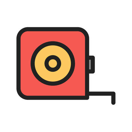 Measure Tape icon on plain presentation. Ilustracja