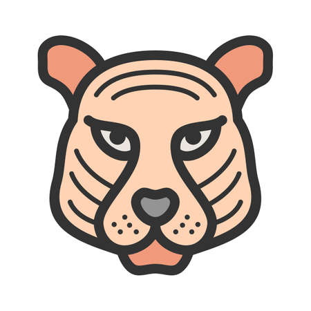 Tiger, animal, cub icon vector image. Can also be used for Animal Faces. Suitable for mobile apps, web apps and print media.