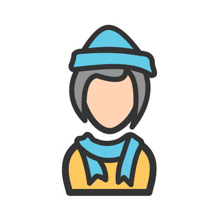 Winter, hat, cap icon vector image. Can also be used for Avatars. Suitable for use on web apps, mobile apps and print media.