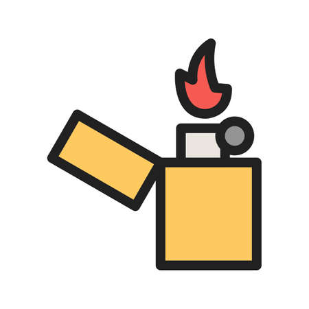 Lighter, cafe, bar icon vector image. Can also be used for Cafe and Bar. Suitable for mobile apps, web apps and print media. Vectores