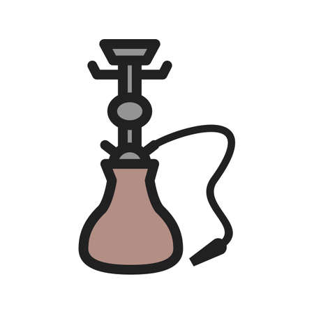 Traditional, hookah, cafe icon vector image. Can also be used for Cafe and Bar. Suitable for mobile apps, web apps and print media.