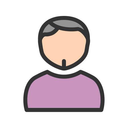 Man in Chin Strap cartoon illustration. Illustration