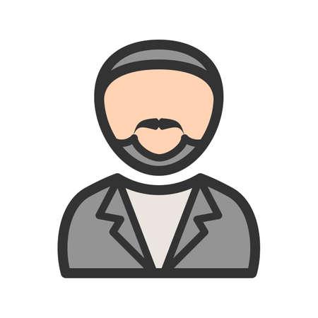 Man in Tuxedo cartoon illustration. Ilustrace