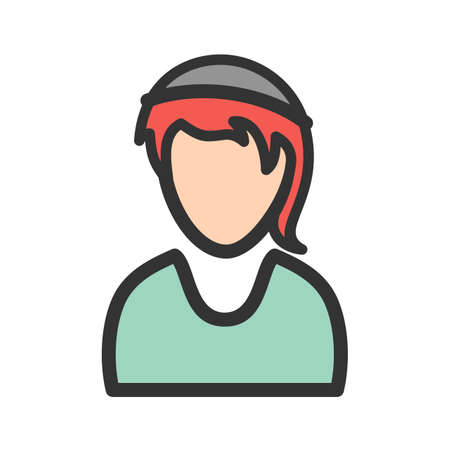 Girl, sport, outfit icon vector image. Can also be used for Avatars. Suitable for use on web apps, mobile apps and print media.