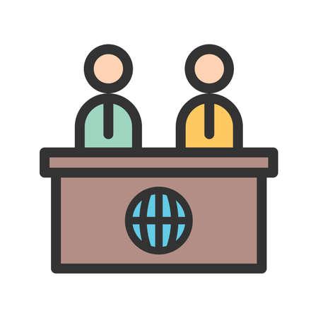 Ankers op News Desk-vector