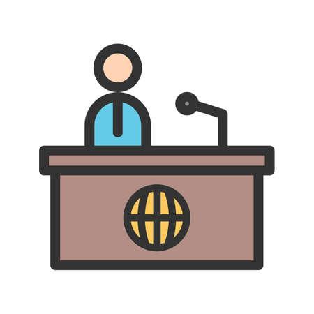 News Desk icon Ilustração