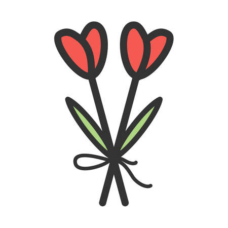 Bouquet, wreath, flowers icon vector image.Can also be used for funeral. Suitable for mobile apps, web apps and print media. Ilustracja