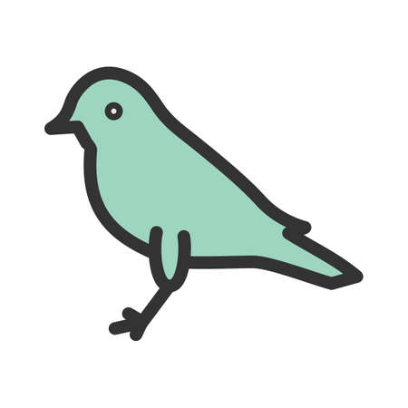 Autumn, bird, sound icon vector image. Can also be used for funeral. Suitable for mobile apps, web apps and print media. Иллюстрация