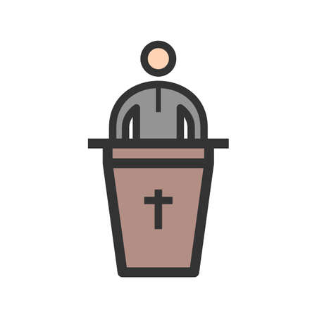 Speaking, peoples, funeral icon vector image.Can also be used for funeral. Suitable for mobile apps, web apps and print media.