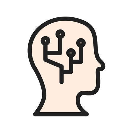 Intelligent Data icon Illustration