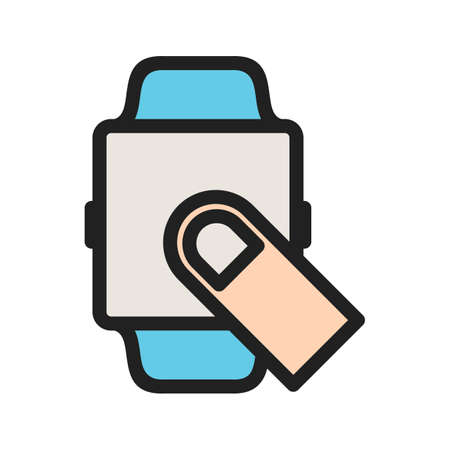 Swipe Finger icon Illustration