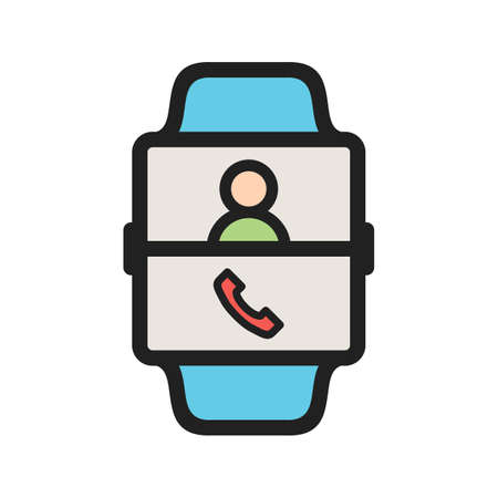 Call, app, voice icon vector image. Can also be used for Smart Watch. Suitable for mobile apps, web apps and print media. Vettoriali