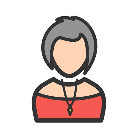 Lady Wearing Necklace Ilustração
