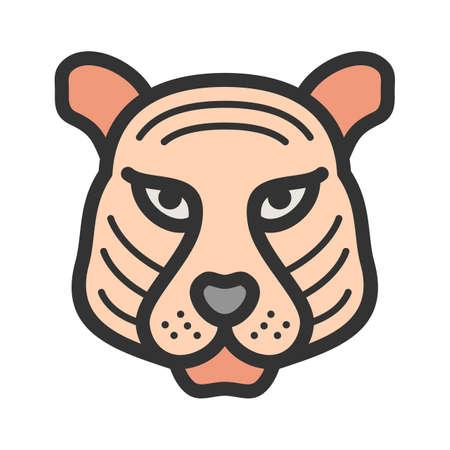 Tiger Face icon Illustration