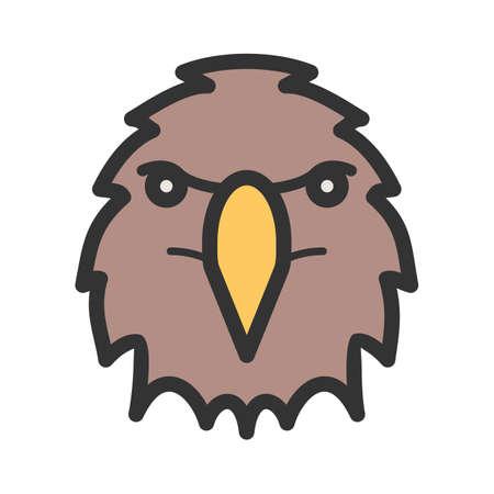Eagle face icon Illustration