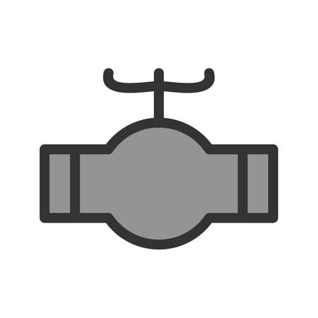 Valve, industrial, pipe on plain background