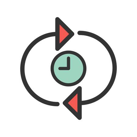 Time, logo, optimization icon vector image. Can also be used for IT Services. Suitable for use on web apps, mobile apps and print media. 일러스트