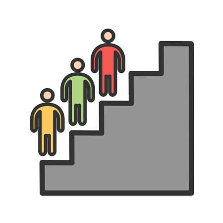Personality, development going up the ladder graph icon vector image. Can also be used for soft skills. Suitable for mobile apps, web apps and print media. Çizim