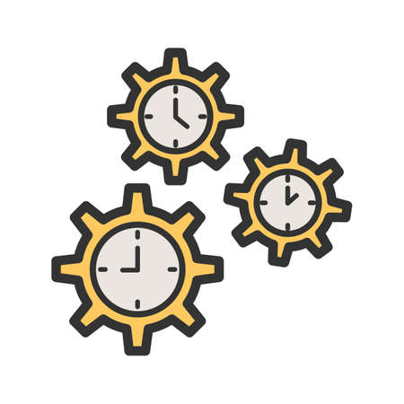 Time, management, deadline icon vector image. Can also be used for soft skills. Suitable for mobile apps, web apps and print media.