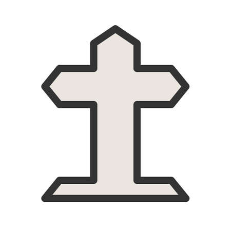 Grave, death, funeral icon vector image. Can also be used for funeral. Suitable for mobile apps, web apps and print media. Stok Fotoğraf - 92110997