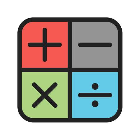 Wiskunde tekenen Stock Illustratie
