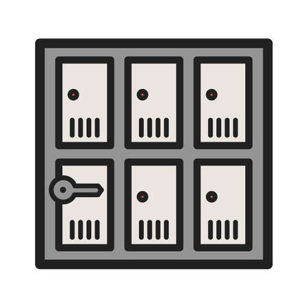 ロッカー、安全、セキュリティベクトルコンセプト