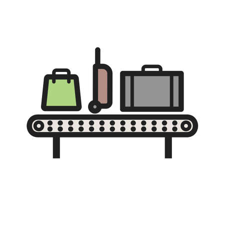 Luggage Carousel icon Çizim