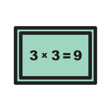 Arithmetic, addition, education Ilustrace