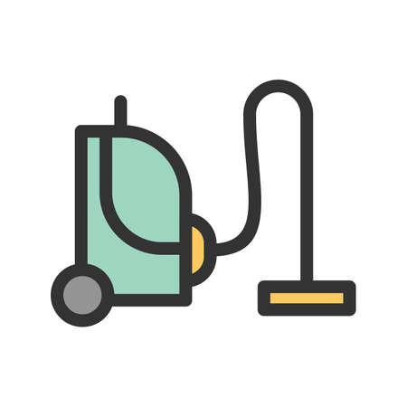 Vacuum, cleaner, home icon vector image. Can also be used for Cleaning Services. Suitable for mobile apps, web apps and print media. Ilustrace