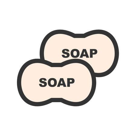 Sabonete, líquido, imagem de vetor de ícone de higiene. Também pode ser usado para serviços de limpeza. Adequado para aplicativos da web, aplicativos móveis e mídia impressa. Foto de archivo - 92114669