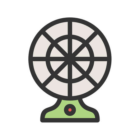 Electric Fan icon Illustration