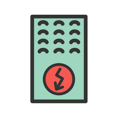 Electric Furnace icon vector illustration.
