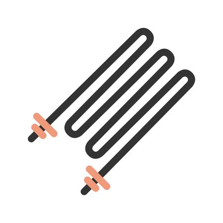 Heating Element icon Illustration