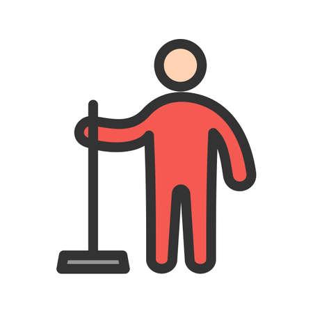 Man Holding Wiper