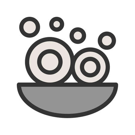 Dishes, washing, sink icon vector image. Can also be used for Cleaning Services. Suitable for use on web apps, mobile apps and print media. Stock Illustratie