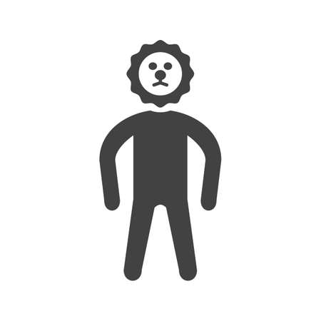 Human with gear face illustration.
