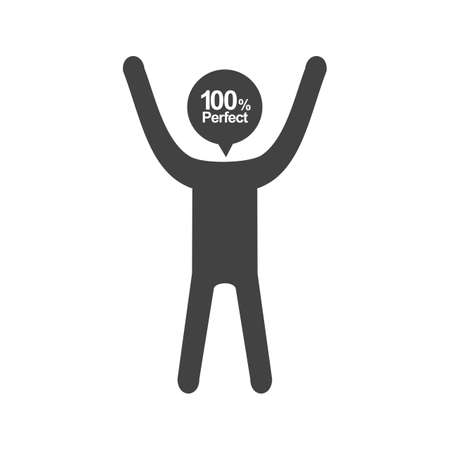 Idealist, perfectionist, inspection icon symbol design.